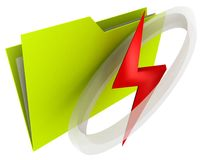 Folder Thunderbolt Stock Images