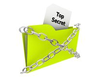 Folder - Top Secret  Stock Photography