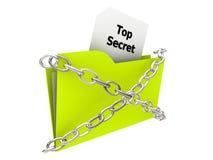 Folder - Top Secret. 3D Illustration of a top secret Folder Stock Photography