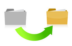 Folder transferring files concept illustration Royalty Free Stock Photos