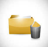 Folder and trash cap illustration design Royalty Free Stock Photo