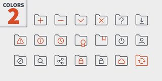 Folder UI Pixel Perfect Well-crafted Vector Thin Line Icons 48x48 Ready for 24x24 Grid for Web Graphics and Apps with. Editable Stroke. Simple Minimal Pictogram Royalty Free Stock Images