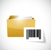 Folder and upc barcode illustration design Royalty Free Stock Photo