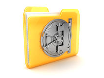 Folder with vault door. Abstract 3d illustration of folder with vault door Royalty Free Stock Photography