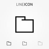 Folder vector icon Royalty Free Stock Images