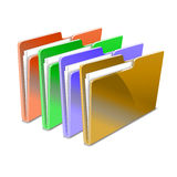 Folder. Vector illustration. Store color Stock Photo