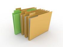 Folder on white background Stock Image