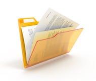 Folder With A Documents. Stock Photos