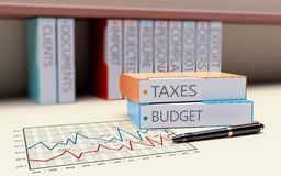 Folder With The Theme Of Taxation And Finance Royalty Free Stock Images