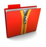 Folder With Zip Royalty Free Stock Photos