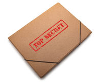 Folder with the words Top Secret stamped on it Stock Image