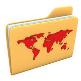 Folder World Royalty Free Stock Photography