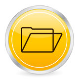 Folder yellow circle icon Royalty Free Stock Photo