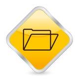 Folder yellow square icon Stock Image