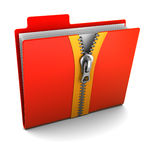 Folder with zip stock illustration