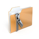 Folder with zipper. Icon - 3d render Royalty Free Stock Photos