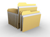 Folders. 3d rendered documents files folders Royalty Free Stock Images