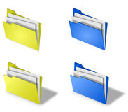 Folders. 3d folders. Illustration of 3d folders Royalty Free Stock Photography