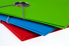 Folders. Green, red, and blue folders Stock Photos