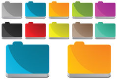 Folders. With different colour variations Royalty Free Stock Photos