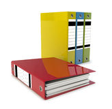 Folders. 3d illustration of colored file folders Royalty Free Stock Images
