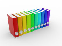 Folders. File folders with documents. 3d render illustration Royalty Free Stock Photography