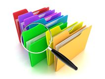 The folders. Illustration of a multicoloured folders on a white background Royalty Free Stock Photos