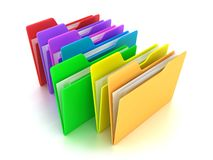 The folders. Illustration of a multicoloured folders on a white background Stock Photography