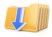 Folders and arrow Royalty Free Stock Photo