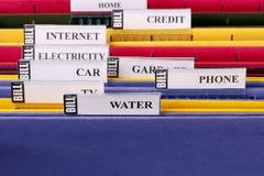 Folders for bills Stock Image