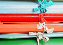 Folders with bows Stock Photography