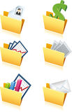 Folders with business signs Royalty Free Stock Images