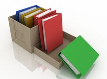 Folders in cardboard box Royalty Free Stock Photos