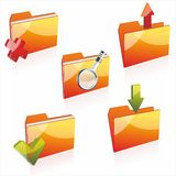 Folders with clean sheets of a paper Royalty Free Stock Images
