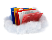 Folders on cloud. Royalty Free Stock Images