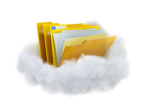 Folders in a cloud. Stock Photography