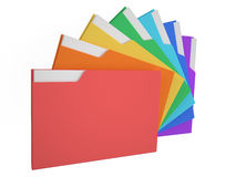 Folders colored. Color folders with documents on white background Royalty Free Stock Image