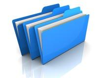 Folders concept  3d illustration Stock Photo