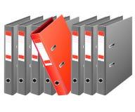 Folders for data archives Stock Image