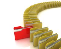 Folders. Data search concept. 3d rendered image Royalty Free Stock Photography
