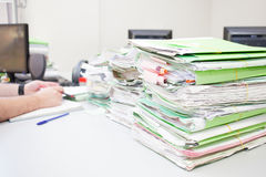 Folders on desk Royalty Free Stock Photography