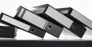 Folders on desk surface Stock Photo