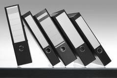 Folders on desk surface Royalty Free Stock Photo