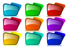 Folders with different color combination Stock Photos