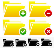 Folders with Different Symbols - Document Management Icons. Eps 10 Vector Illustration of Folders with Different Symbols - Document Management Icons Royalty Free Stock Photography