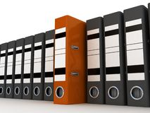 Folders for documents. 3D images Stock Photo