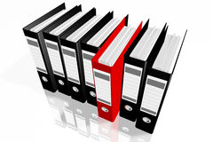 Folders for documents, 3D images Royalty Free Stock Images