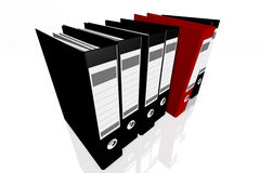 Folders for documents, 3D images. On white background Royalty Free Stock Images