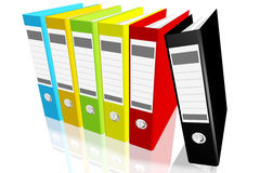 Folders for documents, 3D images. On white background Stock Photography