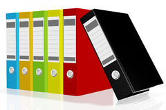 Folders for documents, 3D images. On white background Royalty Free Stock Photo